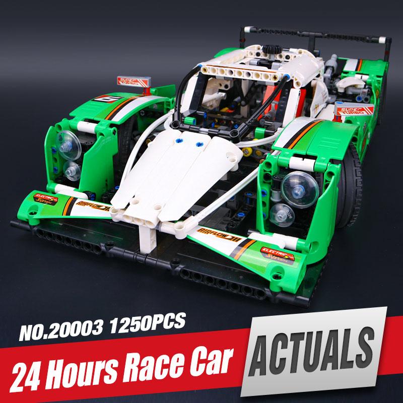 LEPIN 20003 The 24 hours Race Car Building Assembled Blocks Bricks Enlighten Toys Compatible Technic Series Legoinglys 42039