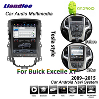 Liandlee Android 2+32G For Buick Excelle XT 2009~2015 Stereo Tesla style Carplay Mirror link Map GPS Navi Navigation Multimedia