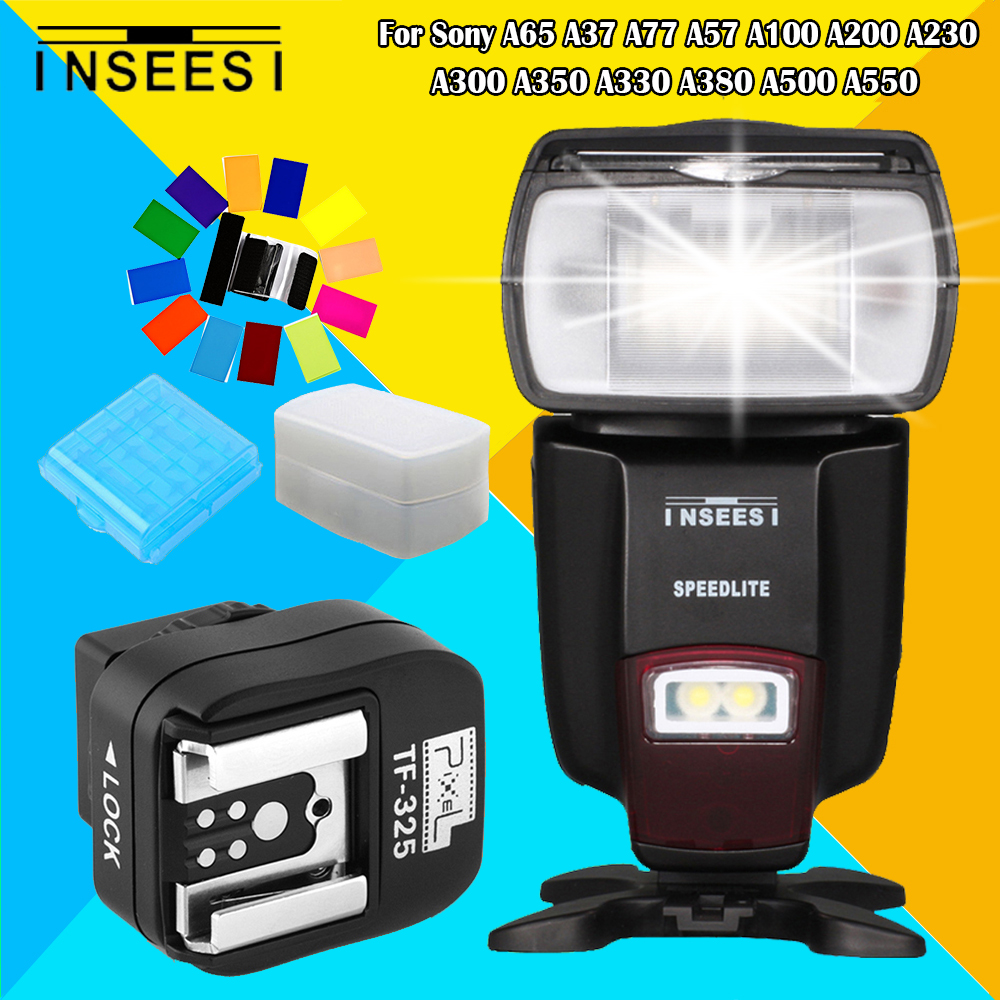 For Sony A65 A37 A77 A57 A100 A200 A230 A300 A350 A330 A380 A500 A550 IN560IV Flash Speedlite & Pixel TF-325 Hot Shoe Adapter remote switch trigger for sony a100 a200 a300 a350 a700 a900
