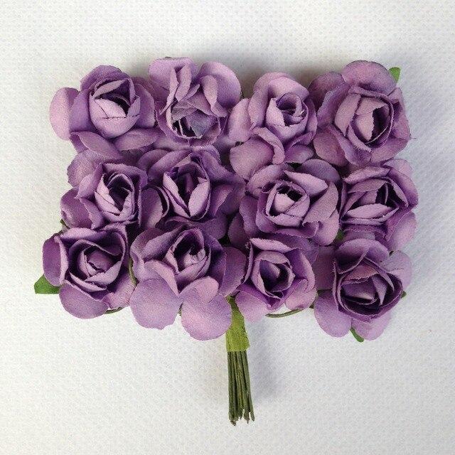 Cheap Sale 144pcs Handmade Small Paper Flowers Rose Bouquet Wedding