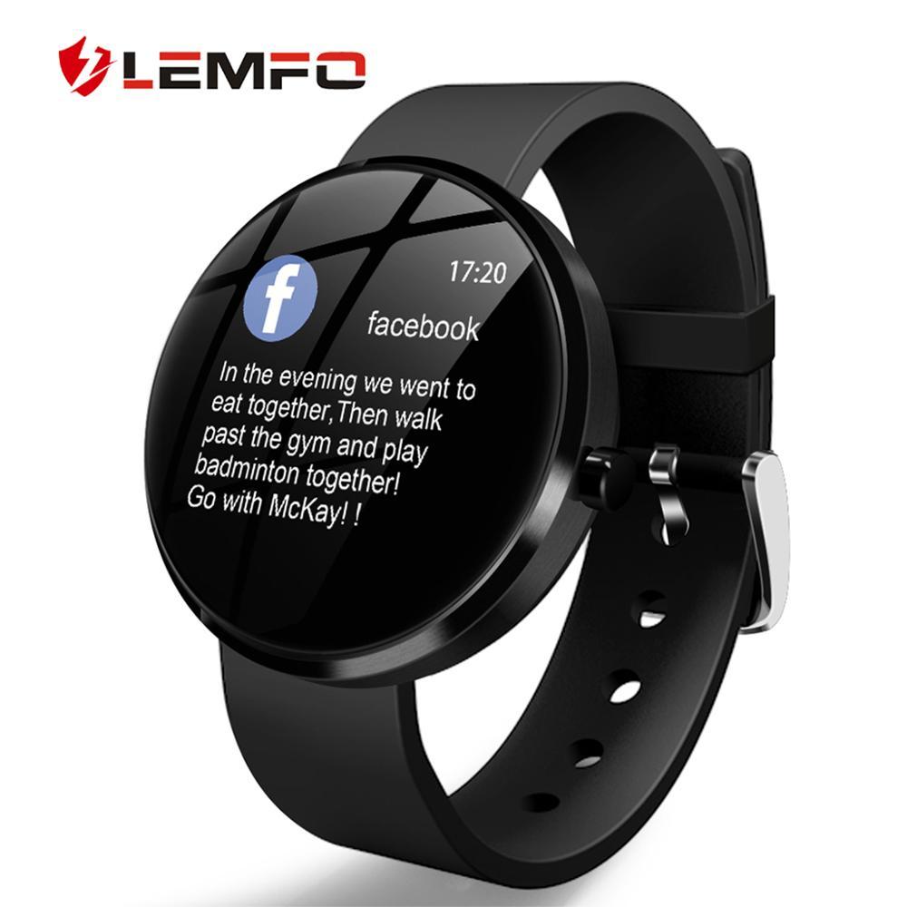 2019 New Smart Watch IP68 Waterproof Heart Rate Blood Pressure Monitoring LEMFO Smartwatch Fitness Tracker for Men Women new garmin watch 2019