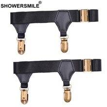 340b66609d3 SHOWERSMILE Black Sock Suspenders Mens Leg Elastic Garters For Stockings Men  Braces Adjustable Underwear Suspenders Gentleman