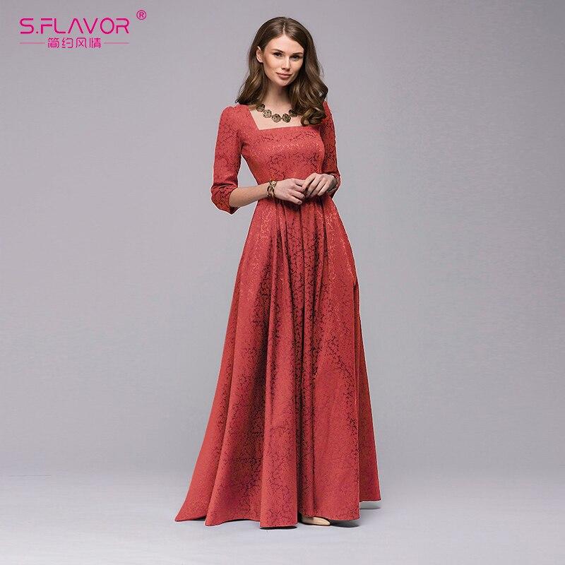 S.FLAVOR Maxi Dress MNL0256RD