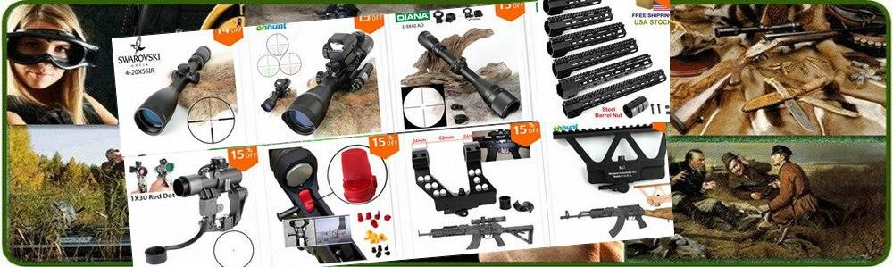 Retículo Iluminado Rifle Scope Caça Riflescope Paralaxe Lado Tático Óptica Vista
