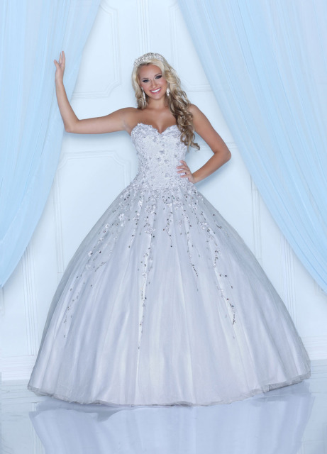 Custom Made Cotillion Dress Ball gown Sweetheart Appliques White ...