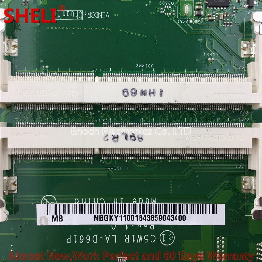 NBGKY11001 NB.GKY11.001 Laptop Motherboard For Acer Aspire ES1-523 Series C5W1R LA-D661P 3