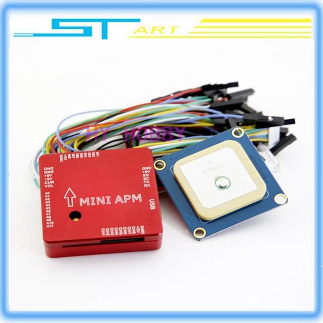 Cnc metall ardupilot mega mit gps kompass mini apm v3.1 flight controller für multicopter fpv kostenloser versand