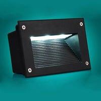 5 unids/lote 5w AC85V-265V Led lámpara de esquina de pared paso empotrado escalera luz impermeable sótano camino del pórtico LED luz subterránea