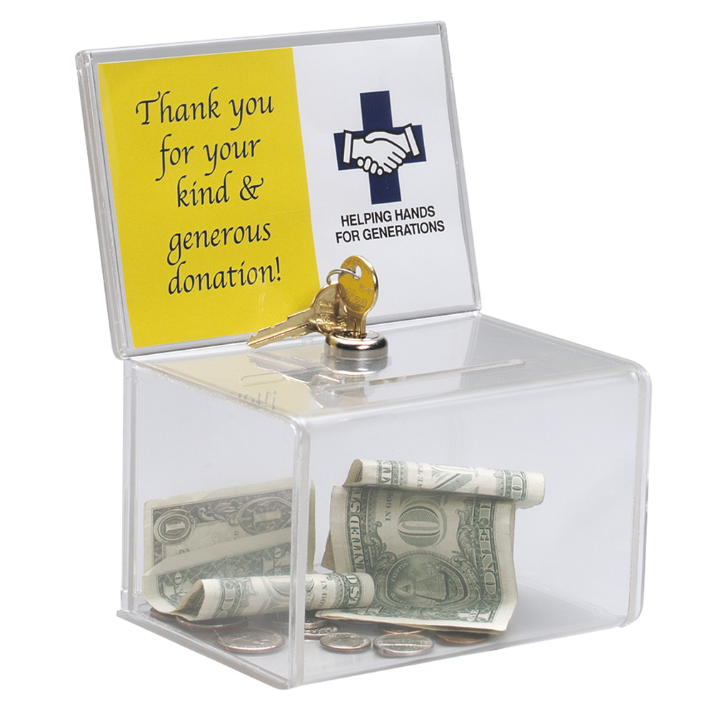 Акриловая коробка для сбора подарков, коробка для сбора средств из плексигласа с замком для церкви, неприбыльная группа, благотворительная