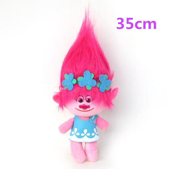 5pcs/lots High Quality 35cm Dreamworks Movie Trolls Toy Plush Trolls Poppy Trolls Figures Magic Fairy Hair Wizard Kids Toys
