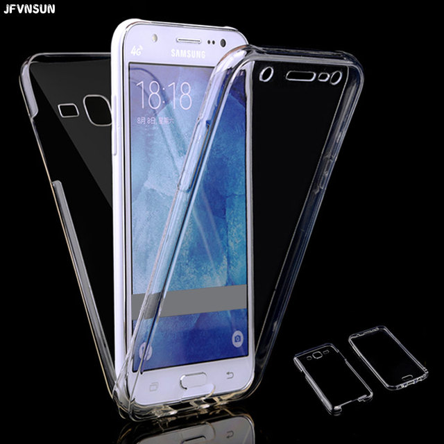 huge discount d2e15 d7e29 US $1.89 5% OFF|For Samsung J3 J7 J5 prime 2016 Case Front + Back Clear TPU  Soft Case for SAMSUNG J5 J3 J7 2017 Cover 360 Full Protective Cases-in ...