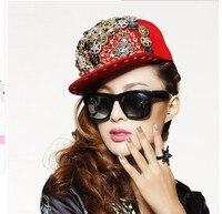 1 pezzo di stile Punk Rock personalità jazz berretto cappello da baseball uomo Donna Spike misto del cranio angelo leopardo Rivetti Cap cappello