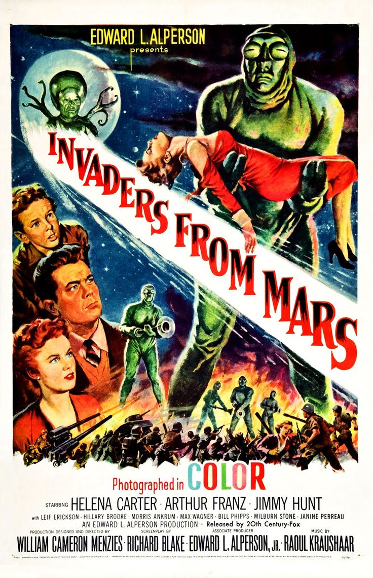 Vintage Invaders from Mars Sci FI Science Fiction Classic