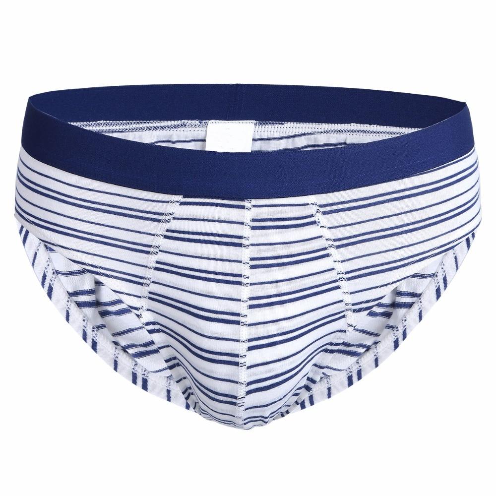 Latest Sale Fashion Striped Briefs Men Underwear Sexy Briefs Shorts Mens U Convex Pump Panties Mens Cotton Breathable Underpant