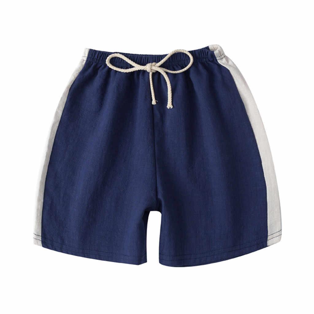 2019 Musim Panas Pakaian Bayi Sekolah Celana untuk Gadis Anak Laki-laki Anak Anak Linen Kasual Perempuan Panjang Elastis Pinggang Celana Pakaian anak-anak