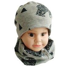 Осень-зима Детские шапочки Кепки шарф младенца хлопка шляпа мультфильм мальчиков Девочка малыша Лыжная Шапочка крючком детские шапки и шарфа