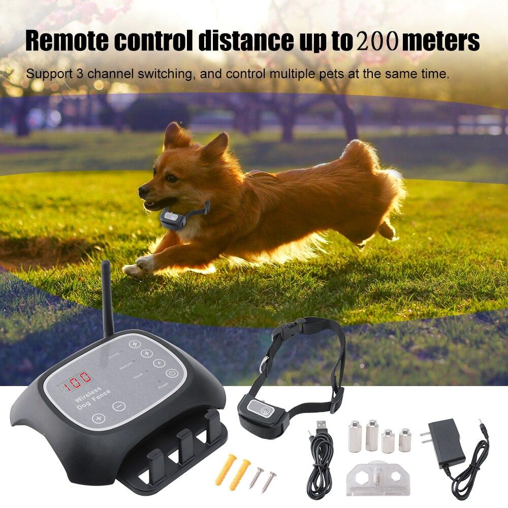 F-700 Senza Fili di Recinzione Cane Elettrico Kit Ricaricabile Impermeabile Collare di Addestramento Del Cane Elettronico Pet Sistema di Contenimento per 2 Cani