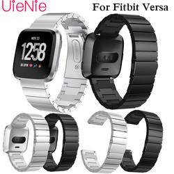 Frontier ремешок из нержавеющей стали для Fitbit Versa Смарт часы Браслет замена металлические браслеты аксессуары ремешок для часов