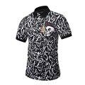 2017 Европа Америка Горячие Мужчины POLO Рубашка Большой Череп Логотип Письма печать 3D Футболки 3 Кнопка Мужчины Повседневная Polo рубашки M-3XL 1780