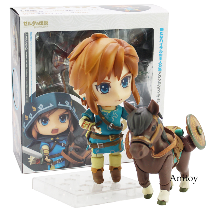 Nendoroid Legend of Zelda Breath of the wild Link 733 DX Edition Action Figure Collectible Model Toy фигурка planet of the apes action figure classic gorilla soldier 2 pack 18 см