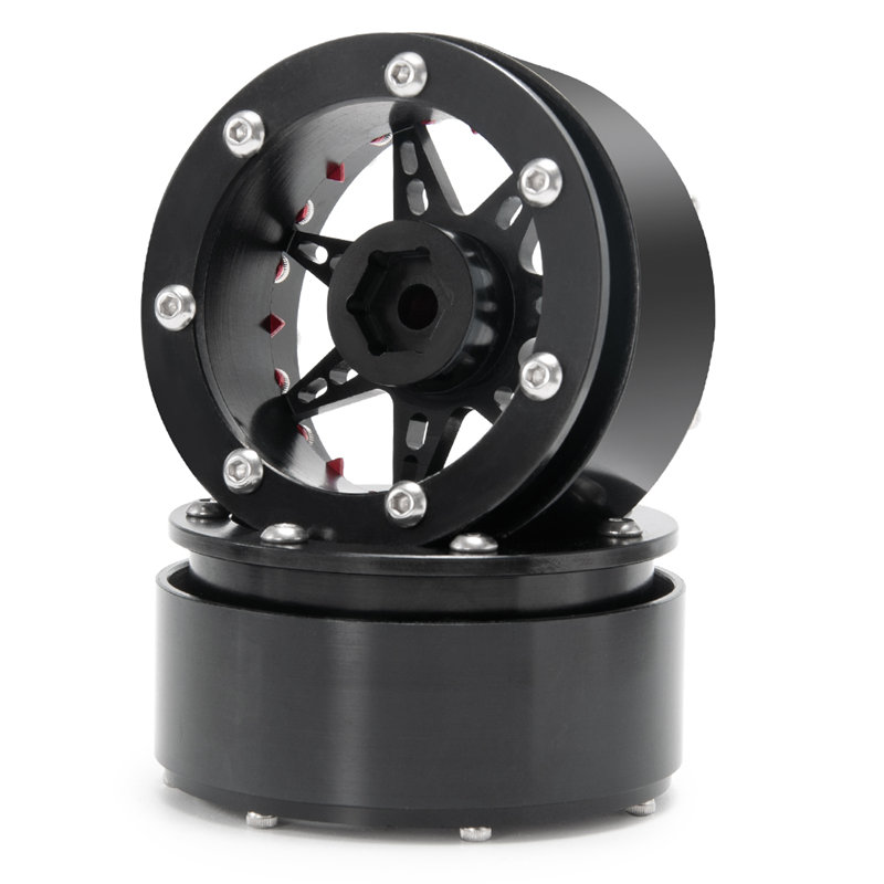 攀爬车-2.2英寸金属轮毂-24号-黑+红X1-(12)