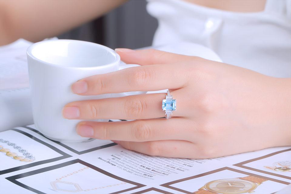 HTB1Lc4qlYZnBKNjSZFhq6A.oXXas UMCHO Blue Topaz Gemstone Rings for Women Genuine 925 Sterling Silver Aquamarine Ring Romantic Wedding Engagement Fine Jewelry