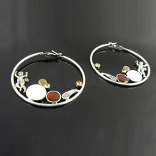 Fashion exaggerate charm hoop earrings for women silver big hoops with Son of God pattern circle earrings collier femme er-272(China)
