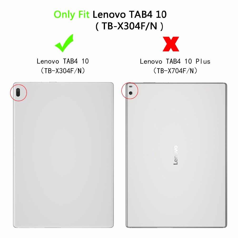 حالة لينوفو تبويب 4 10 TB-X304L TB-X304F/N طباعة جلدية حامل غطاء لجهاز Lenovo تبويب 4 10 اللوحي Fundas + ستايلس