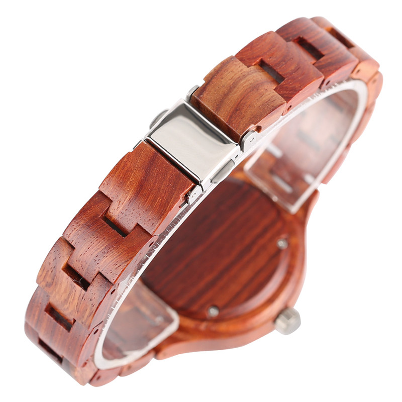 2017 Unique Full Bamboo Wooden Quartz Watches Ladies Slim Bangle Separate Numbers Womens Wristwatch Beauty Elegant Gift 280901