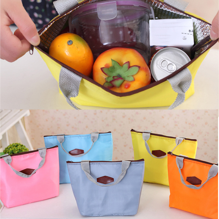 Waterproof Picnic Lunch Bag Case Tote Handbag Reusable Bags Insulated Travel Zipper Organizer Box for Women Men Kids Girls Boys