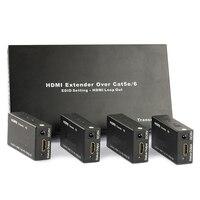 TreasLin 4 Порты 1080 P HDMI удлинитель по Cat5 Cat6 до 60 м 1 передатчик с 4 приемник для ТВ не чистая коммутатора требуется