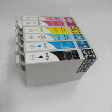 T0821-T0826 Картриджи с чернилами для Epson R270 R390 TX650 T50 T59 RX590 TX700W TX800W T50 TX720 TX700 TX800 RX610