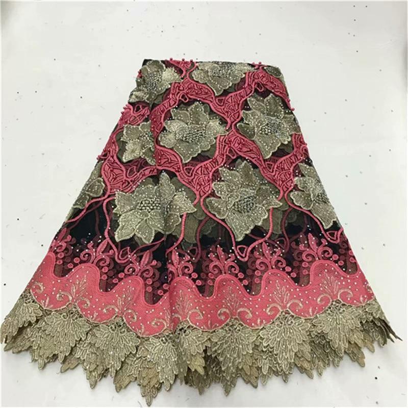 Нигерийская африканская кружевная ткань высокого качества для мужчин хлопок сухая кружевная ткань с камнями швейцарская вуаль кружево в Ш