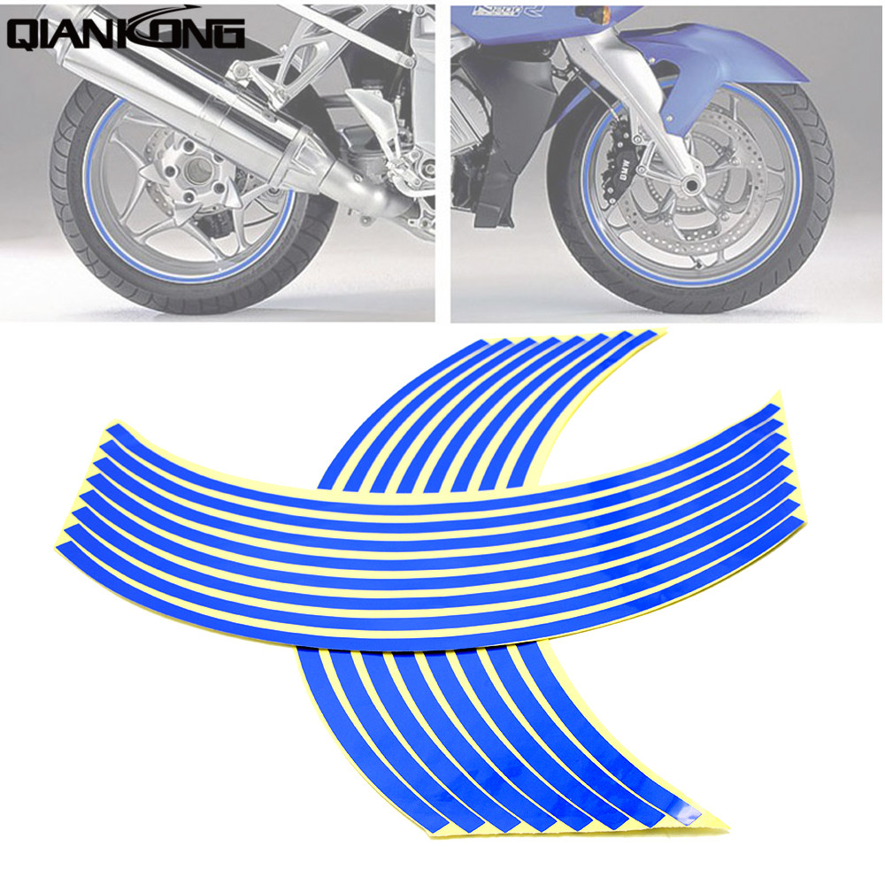 For <font><b>BMW</b></font> HP2 Megamoto <font><b>K1200R</b></font> K1300R HONDA AFRICA TWIN CRF1000L Motorcycle Bike <font><b>Accessories</b></font> Wheel Sticker Tape 17 18inch image