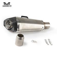 цена на Universal 36-51MM Modified Motorcycle Exhaust Pipe Muffler FOR YAMAHA YZF R6 yzf 600R FZR 600 TRX850 FZR400 RR XJR1300