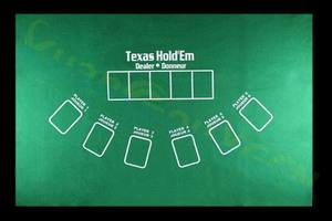 Texas Hold'em Non-woven table Mat Poker Game Table Top 21 points dice tablecloths travel party family entertainment toys(China)