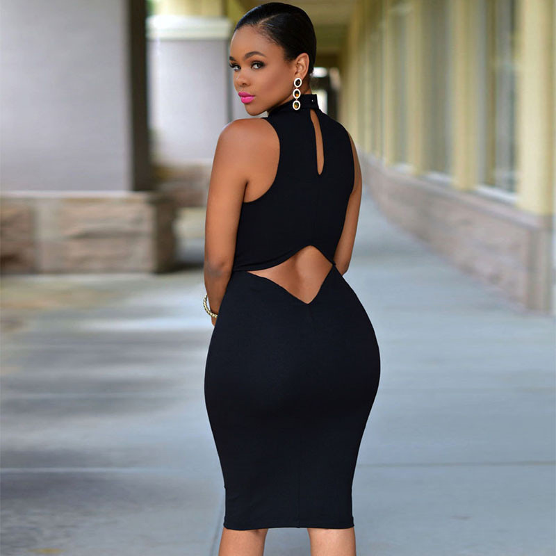 2017 SEXY Halter Pack hip 4XL SOLID TANK BASIC SCOOP NECK RACERBACK RIBBED CASUAL MAXI WOMEN SUMMER Tight DRESS Sleeveless Dress 6