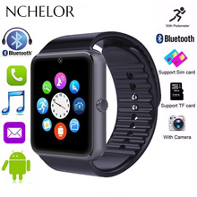 NEW Bluetooth Smart Watch Men GT08 With Touch Screen Sport Watch Support TF SIM Card Camera