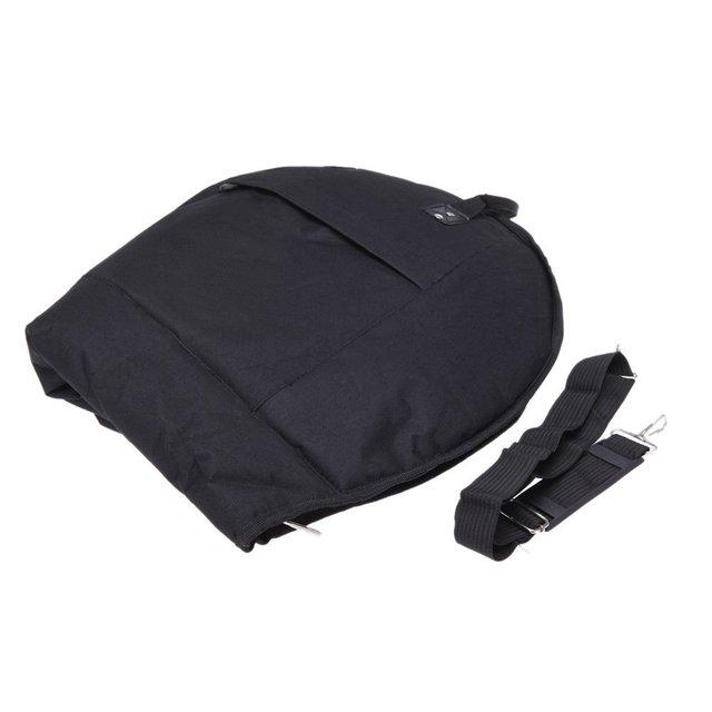 French Horn Gig Bag 600D Water-resistant French Horn Case Oxford Cloth Adjustable Single Shoulder Strap Pocket Black