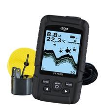 LUCKY 328ft /100m depth Fishfinder Sonar Transducer 2-in-1 Wired & Wireless Sensor Portable Waterproof Fish Finder FF718Li