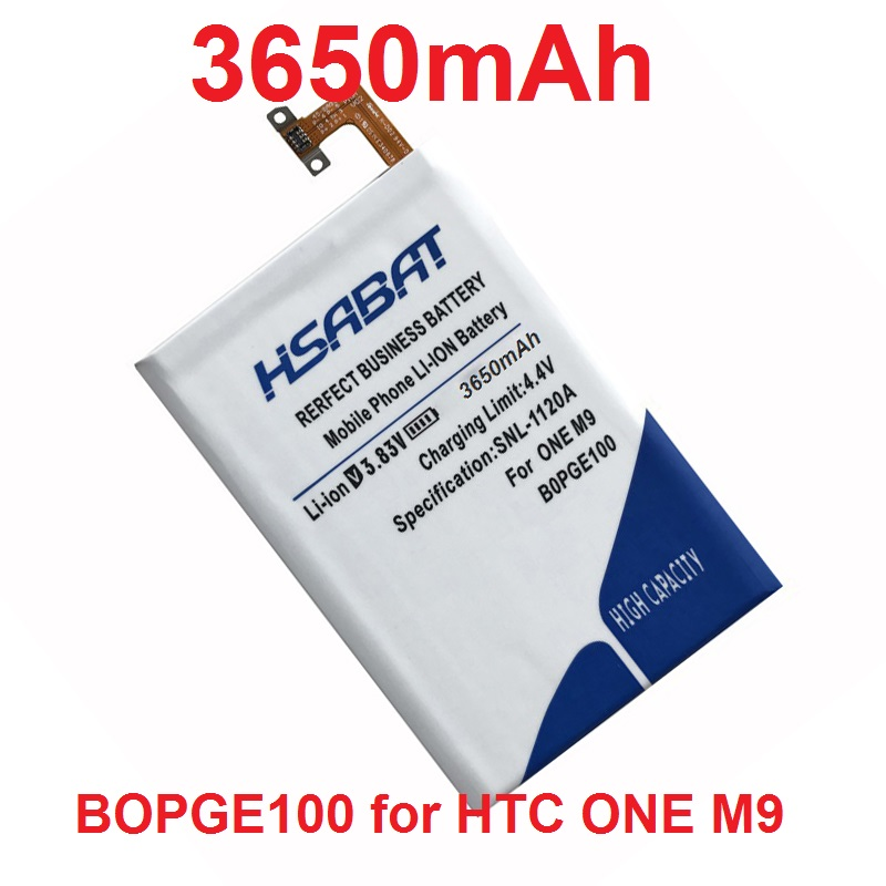 imágenes para HSABAT BOPGE100 B0PGE100 3650 mAh Batería de La Batería para HTC UNO M9 M9 + M9W Uno M9 Hima Más M9pt Ultra 0PJA10 0PJA13