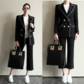 Stars Favorite New Fashion Women Suits Blazer Set Mujer Suits Blazer+Pants Twinset Button Business Suit Blaser Femme Korea Style