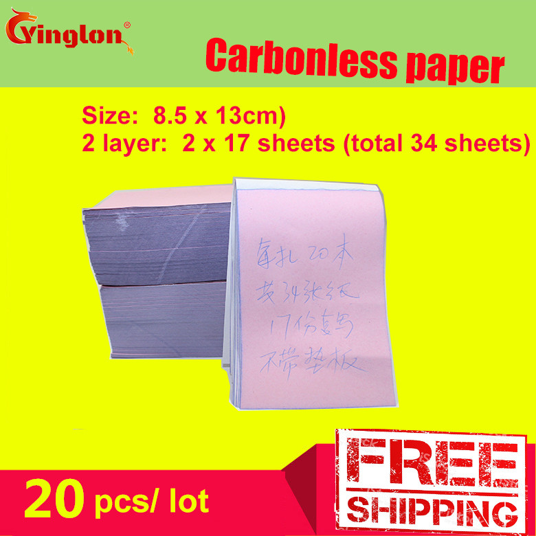 Free Shipping5pcs / Lot 8.5x13cm Blank 2 Layers Carbonless Paper Double Layer Handwritten Sales Note Memorandum Sheet Letter Pad