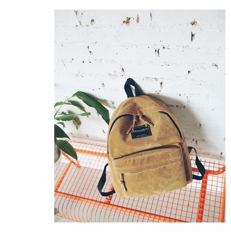 2016 New Women Backpack Preppy Style Suede Backpacks Teenage Girls School Bags Vintage Rivet Travel Backpack Burgundy Gray Black (45)