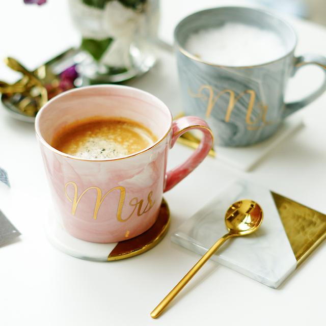 «Мраморные» керамические чашки | Aliexpress