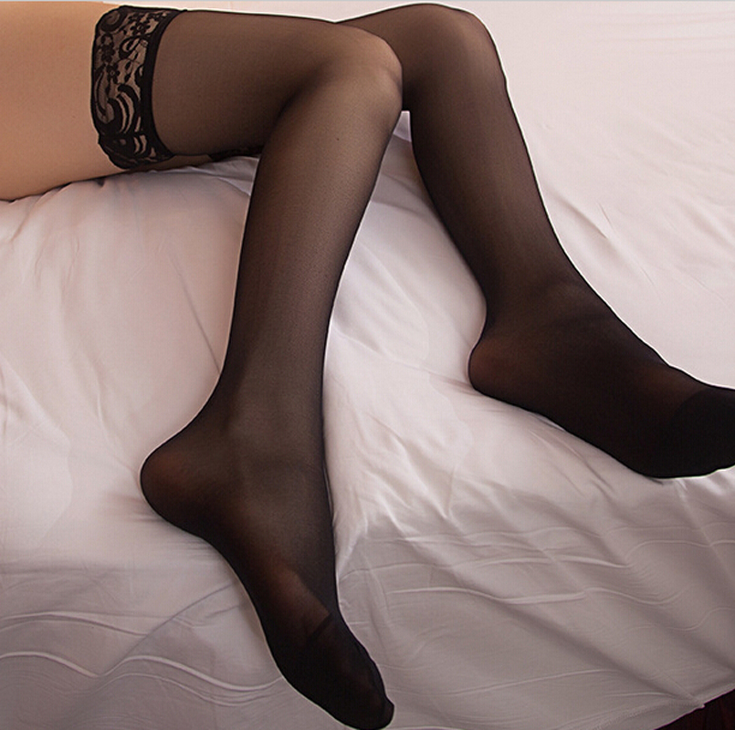 Sexy Legs Thigh High Socks Wide Lace Transparent Boots Leather Stockings Брюки