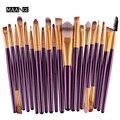 Maange pro salon 20 unids/set 4 mango de plástico de color labios cejas mascara cosmetic powder foundation belleza multifunción accesorio