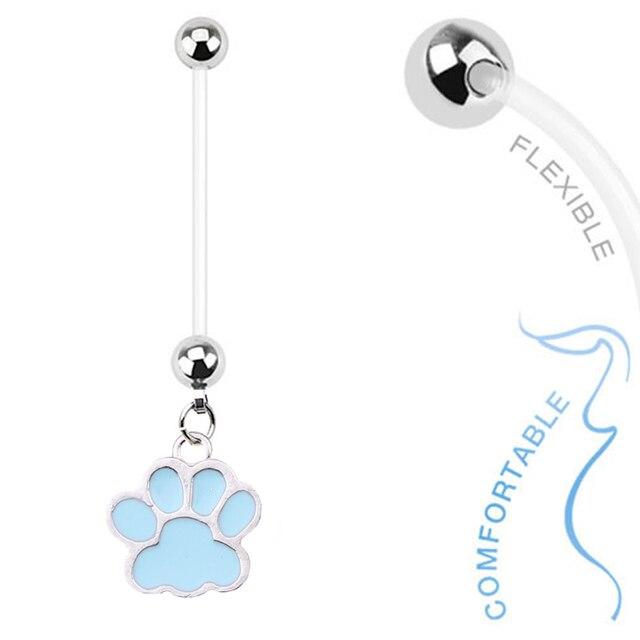 1 шт Модные кольца для живота в виде собаки из хирургической