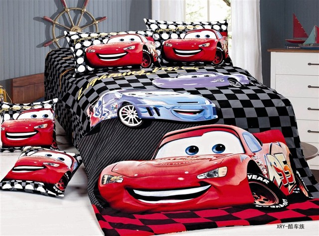 Cartoon Cars Printed Bedding Single Twin Size Bed Duvet Covers Sets Bedclothes Kids Boy S Baby Bedroom