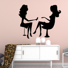 Carved beauty salon Wall Stickers Modern Fashion Sticker For Baby Kids Rooms Decor Decoration Accessories